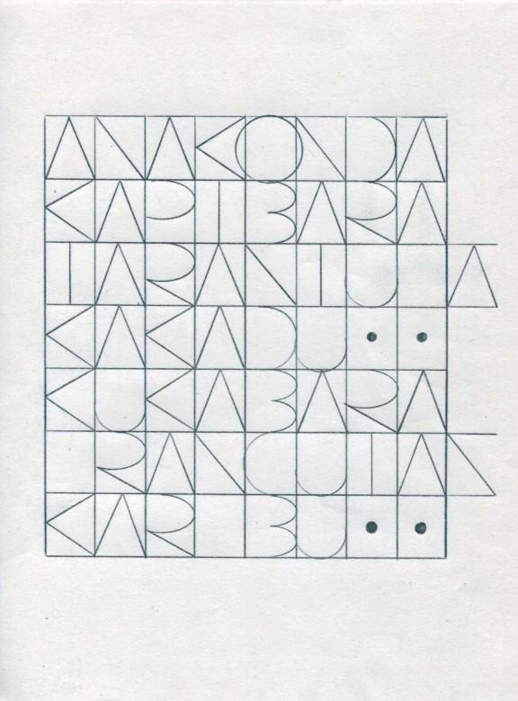"""Honza Zamojski, """"Bez tytułu"""", 21x30cm, technika własna, 2012 (źródło: materiał prasowy)"""