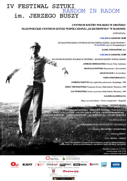IV Festiwal Sztuki im. Jerzego Buszy – plakat (źródło: materiały prasowe organizatora)