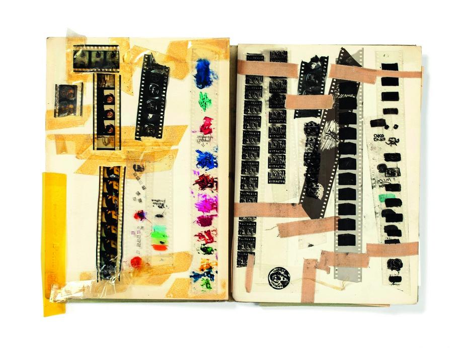 """Teczka """"Technika, drukowanie filmów i elektrofotografia filmowa, pomysłownik"""", ok. 1976 / Folder """"Film Printing Technology and Film Electrophotography, ideabook"""", ca 1976 © własność Danuty, Malwiny i Sabiny Antoniszczak"""