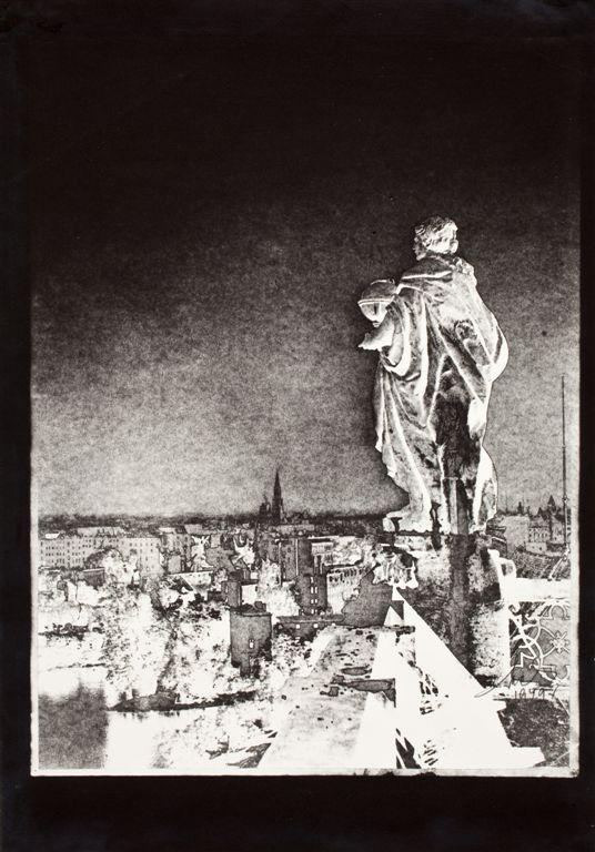 """Bożena Michalik """"Z wieży Uniwersytetu (we Wrocławiu)"""", 1949 (źródło: materiały prasowe organizatora)"""