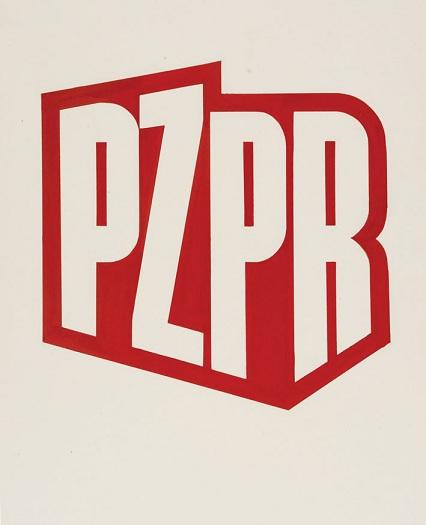 Zdzisław Horodecki, projekt logo PZPR, 1978 - Aukcja Socrealizmu i Pamiątek PRL (źródło: materiały prasowe)