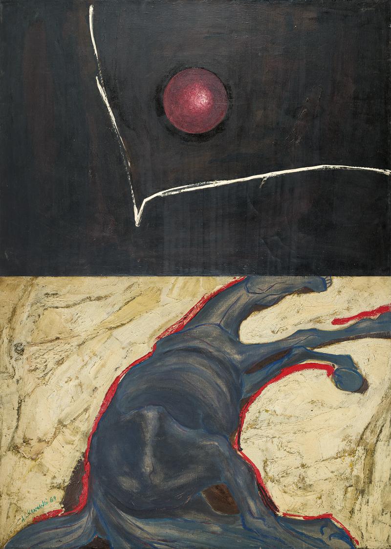 """Andrzej Seweryn Kowalski, """"Śmierć konia I"""", 1969, z kolekcji prywatnej, fot. M. Stobierski (źródło: materiały prasowe organizatora)"""