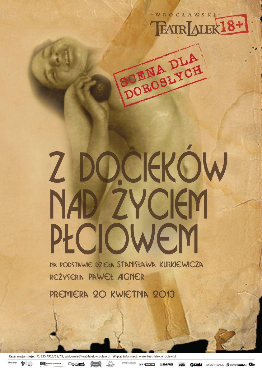 """""""Z docieków nad życiem płciowym"""", reż. Paweł Aigner, Teatr Lalek we Wrocławiu, (źródło: materiały prasowe)"""
