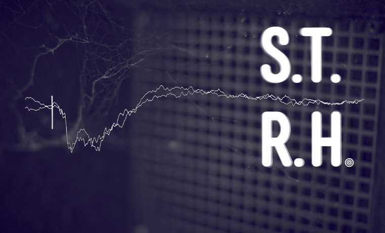 """Konrad Smoleński, """"S.T.R.H."""", plakat wystawy w CSW Łaźnia w Gdańsku (źródło: materiały prasowe organizatora)"""