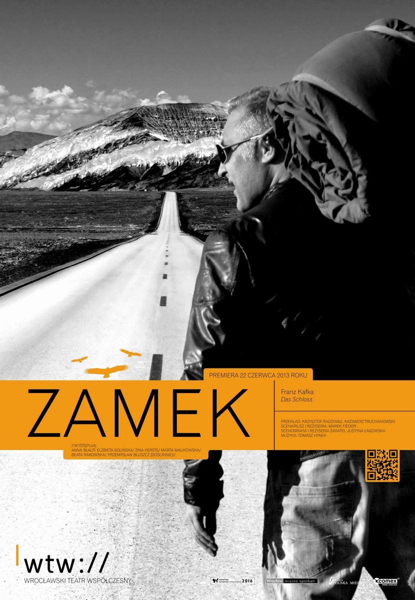 """Franz Kafka """"Zamek"""", reżyseria: Marek Fiedor – plakat (źródło: materiały prasowe)"""