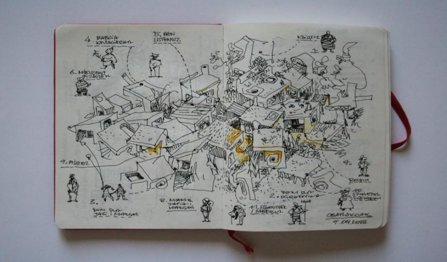 Maciej Siuda i Laboratorium Architektury, Rogóżka – szkic (źródło: materiały prasowe organizatora)