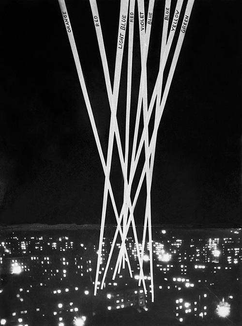 """Henryk Stażewski, """"Kompozycja pionowa nieograniczona (projekt)"""", Wrocław 1970. Fot. Zdzisław Holuka. Kolekcja DTZSP (źródło: materiały prasowe organizatora)"""