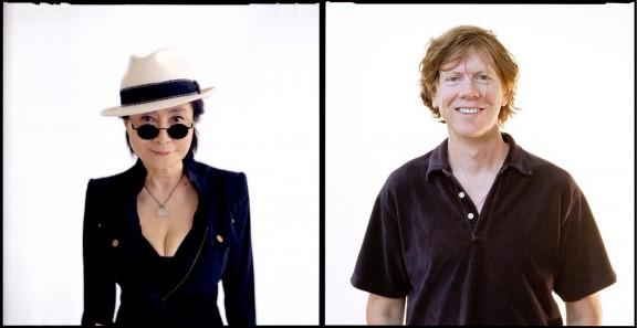 Yoko Ono i Thurston Moore (źródło: materiały prasowe Transatlantyk Festival Poznań)