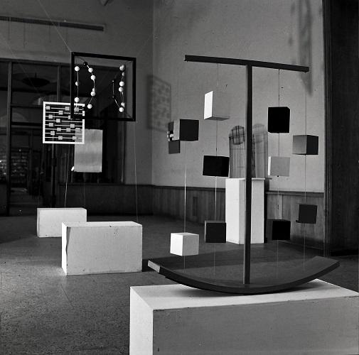 Wystawa Wandy Gołkowskiej, Galeria Pod Moną Lisą, Wrocław 1968. Fot. Zdzisław Holuka. Kolekcja MWW (źródło: materiały prasowe organizatora)