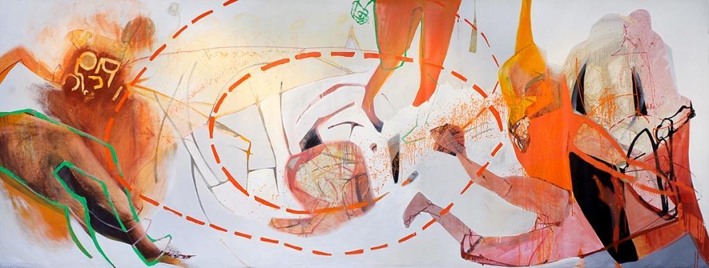 """Agata Czeremuszkin-Chrut """"X"""", olej na płótnie, 2011, Galeria BWA w Gorzowie Wielkopolskim (źródło: materiały prasowe)"""
