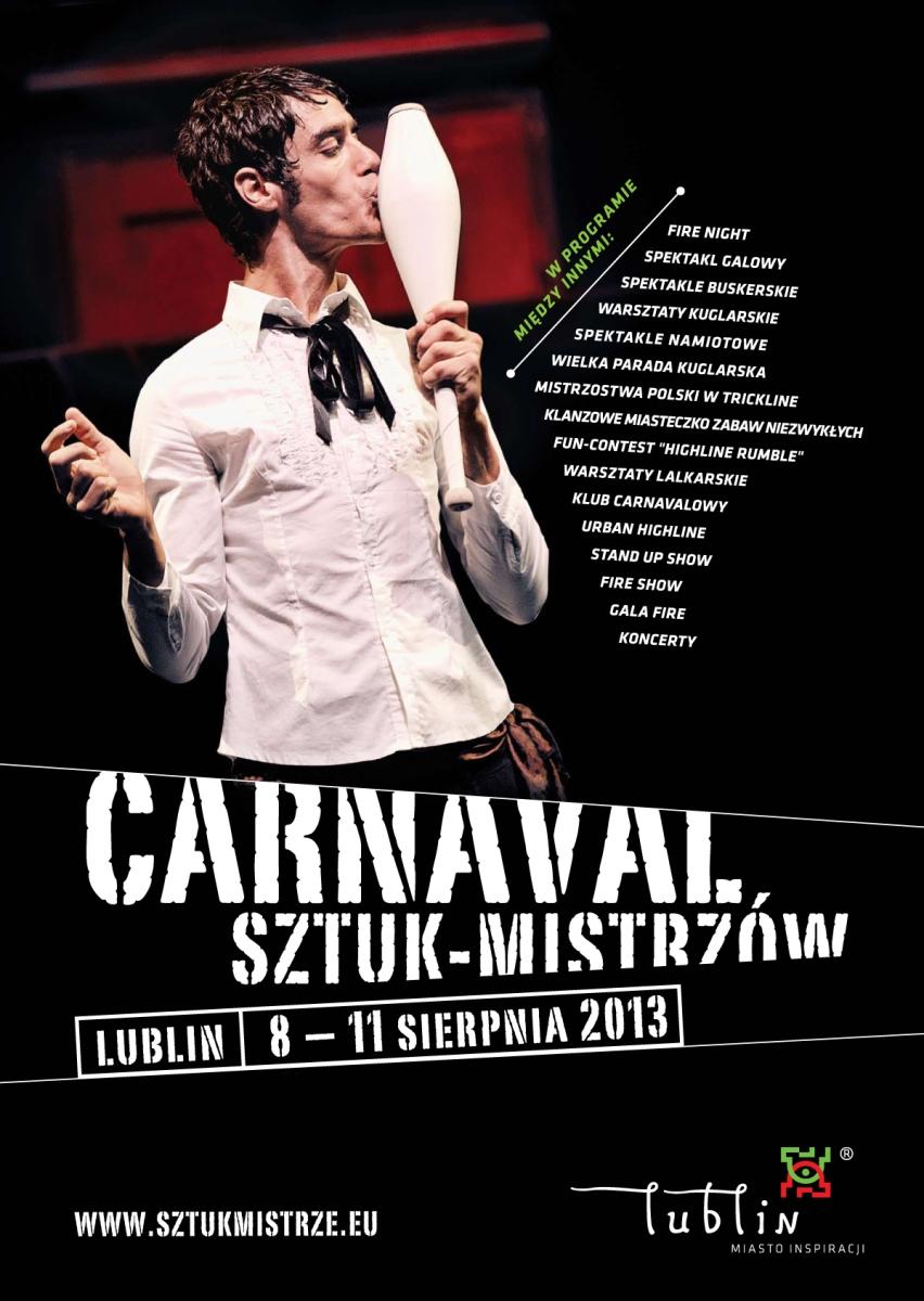 Carnaval Sztuk-Mistrzów – plakat (źródło: materiały prasowe organizatora)