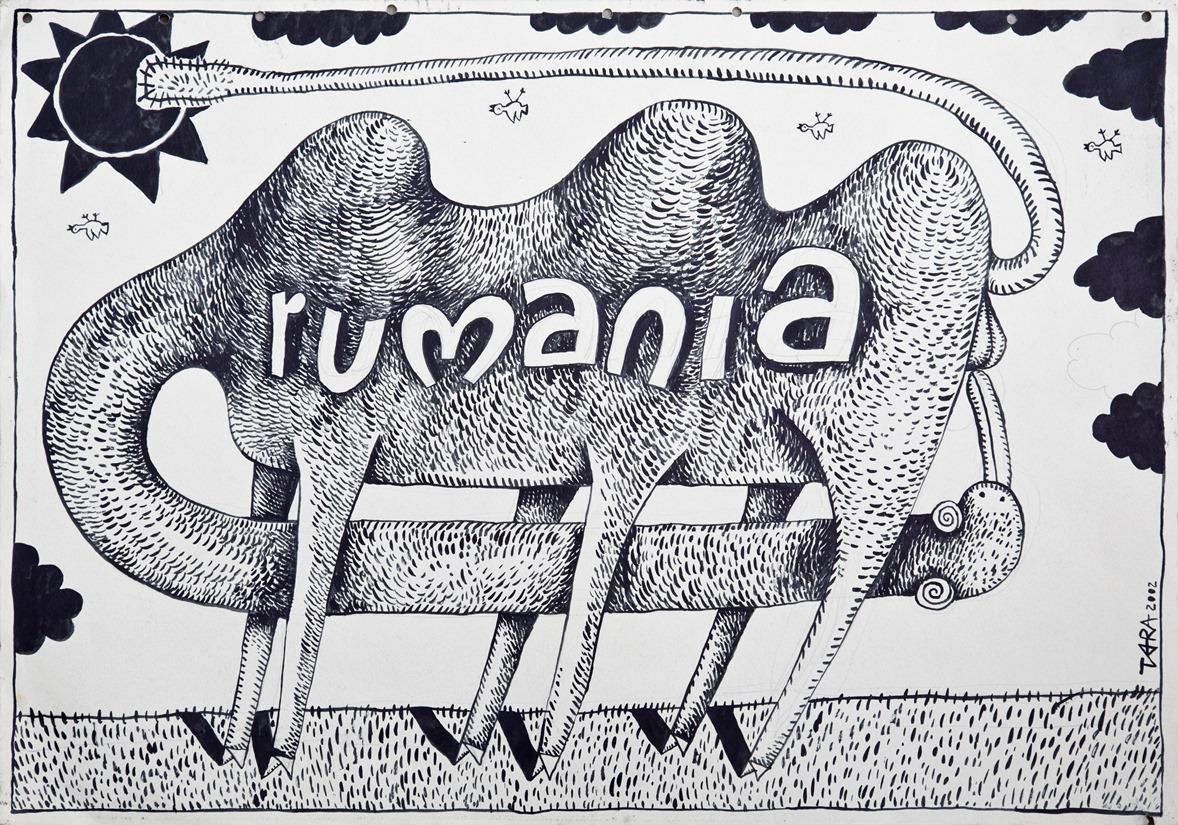 """Tara (von Neudorf) """"Black Rumania"""", 50x72 cm, 2002; ze zbiorów Anaid Art Gallery (źródło: materiały prasowe)"""