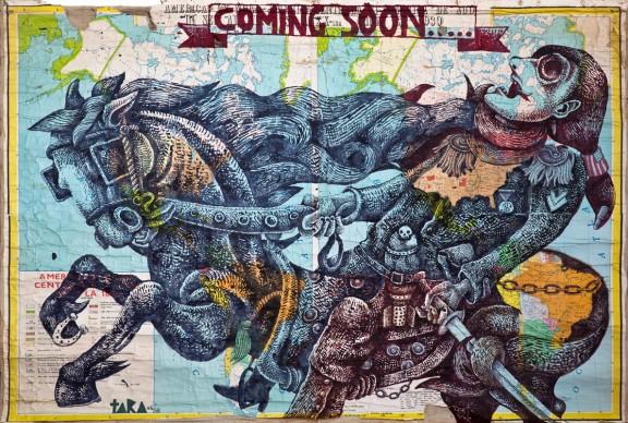 """Tara (von Neudorf) """"Coming Soon"""", 135x190cm, 2006 kopia; ze zbiorów Anaid Art Gallery (źródło: materiały prasowe)"""