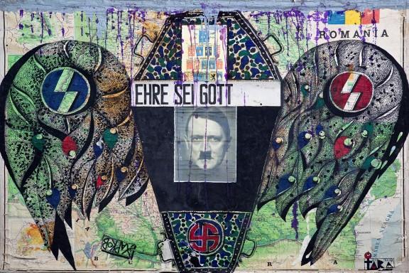 """Tara (von Neudorf) """"In the Name of Adolf Hitler II"""", 132x190cm, 2010; ze zbiorów Anaid Art Gallery (źródło: materiały prasowe)"""
