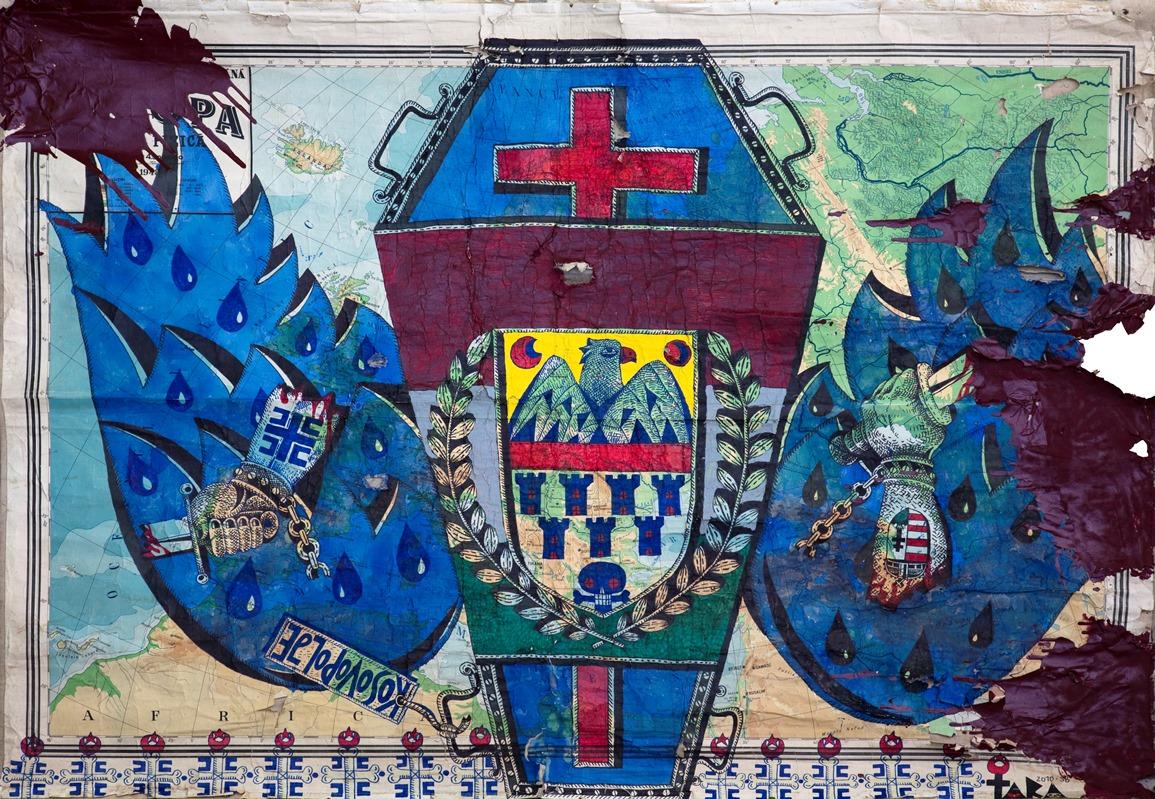 """Tara (von Neudorf) """"In the Name of Christianity"""", 130x183 cm, 2010 kopia; ze zbiorów Anaid Art Gallery (źródło: materiały prasowe)"""