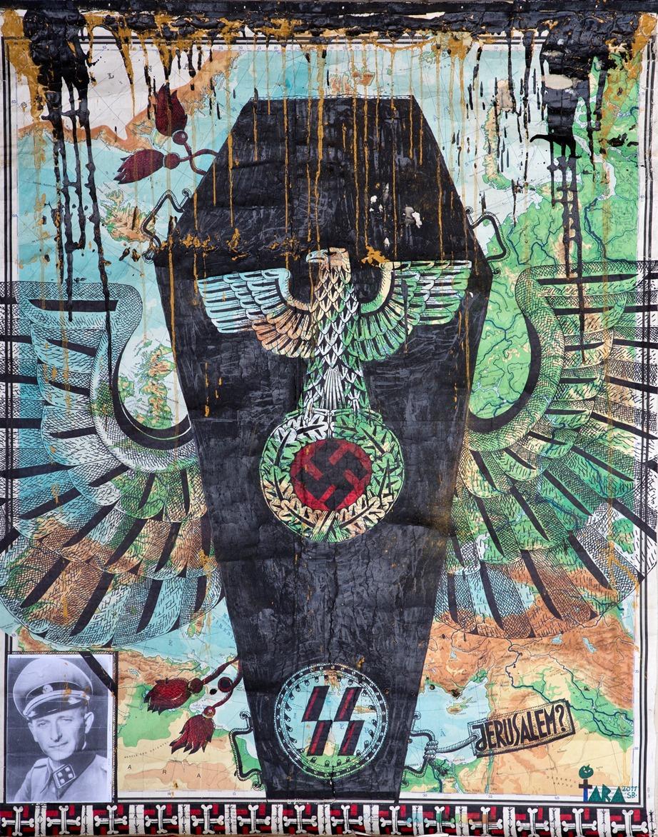 """Tara (von Neudorf) """"In the Name of Final Solution"""", 165x133 cm, 2011; ze zbiorów Anaid Art Gallery (źródło: materiały prasowe)"""