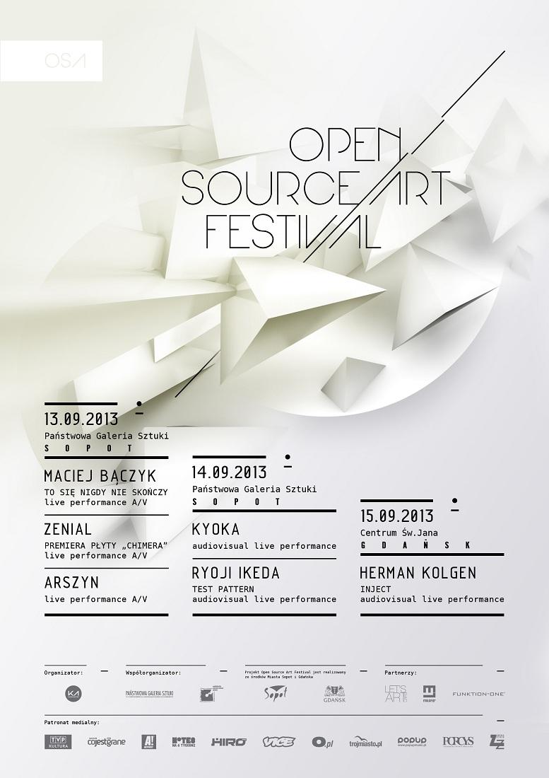 Open Source Art Festival, plakat (źródło: mat. prasowe)