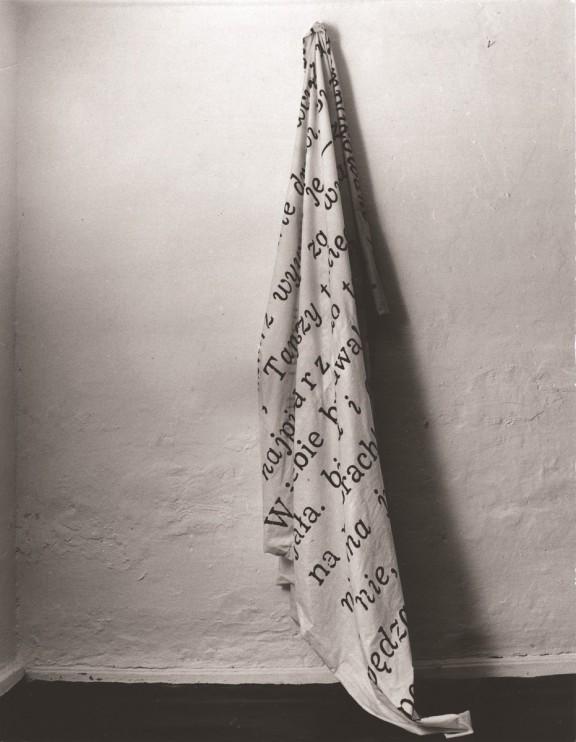 """Wojciech Bruszewski, """"Tekst"""", 1970, fot. autor (źródło: materiały prasowe organizatora)"""
