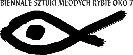 Biennale Sztuki Młodych Rybie Oko 7, logo (źródło: materiały prasowe organizatora)
