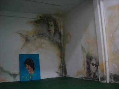 Andres Londoño, Pleśń, mural, akryl na ścianie, 2013 (źródło: materiały prasowe organizatora)
