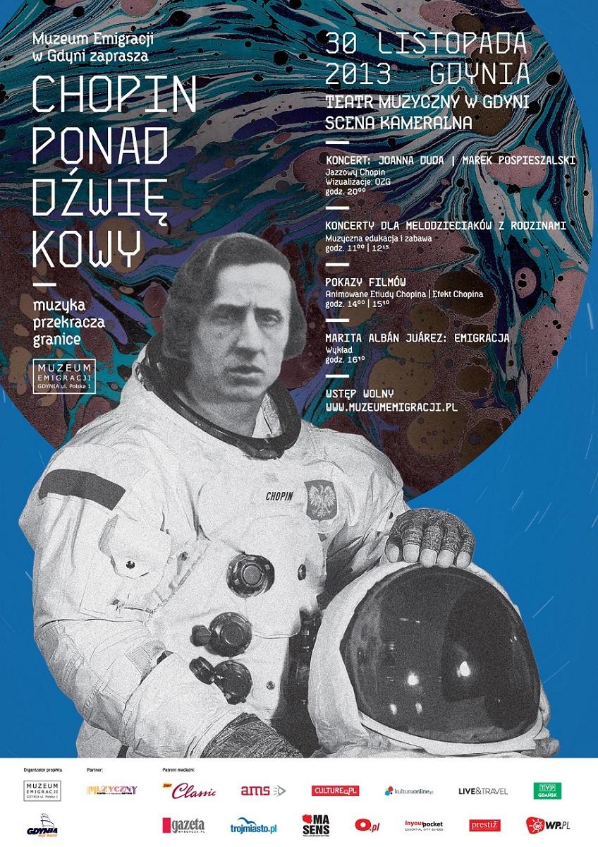 """""""Chopin Ponaddźwiękowy"""", plakat (źródło: mat. prasowe)"""