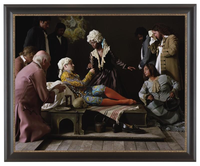 "Yinka Shonibare ""Fake Death Picture"" ""(The Death of St Francis - Bartolomé Carducho""), 2011. Digital chromogenic print. Framed: 58 5/8 x 78 inches (źródło: materiały prasowe organizatora)"