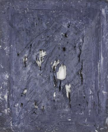 """Jacek Sempoliński, """"Czaszka"""", 1988, olej, płótno, 104x86 cm (źródło: materiały prasowe organizatora)"""