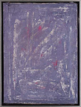 """Jacek Sempoliński, """"Męćmierz. Wisła"""", 1988, tempera, płótno, 80x60 cm (źródło: materiały prasowe organizatora)"""