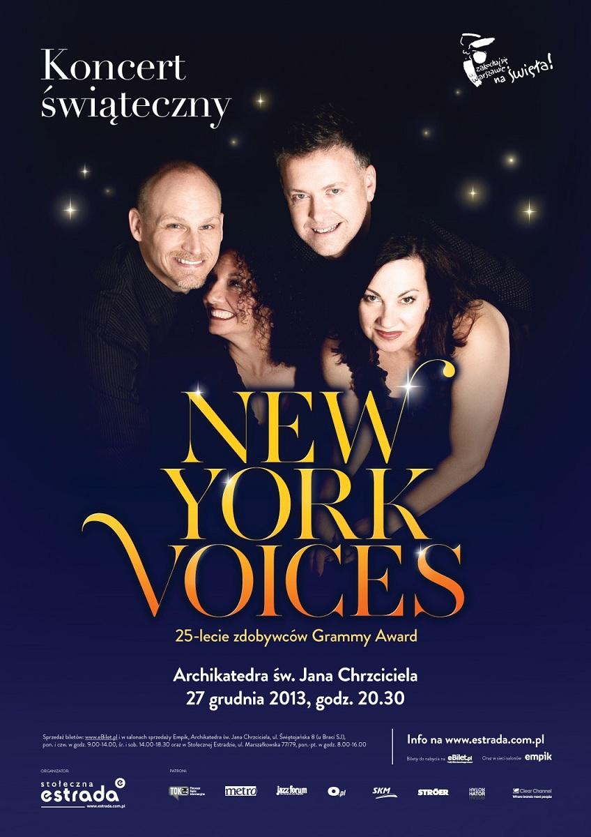 Koncert New York Voices, plakat (źródło: mat. prasowe - Stołeczna Estrada)