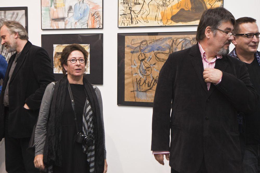 Od lewej artyści: Krzysztof Kula, Krystyna Piotrowska, Paweł Frąckiewicz, Marek Kuś, fot. Krzysztof Morcinek (źródło: materiały prasowe organizatora)