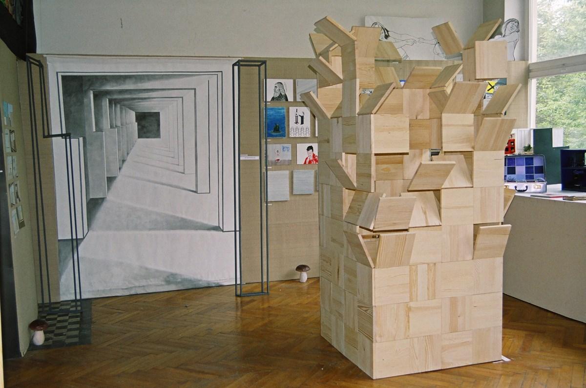 Widok wystawy końcowej prac Agaty Dobrowolskiej i Jerzego Goliszewskiego, fot. archiwum pracowni (źródło: materiały prasowe organizatora)