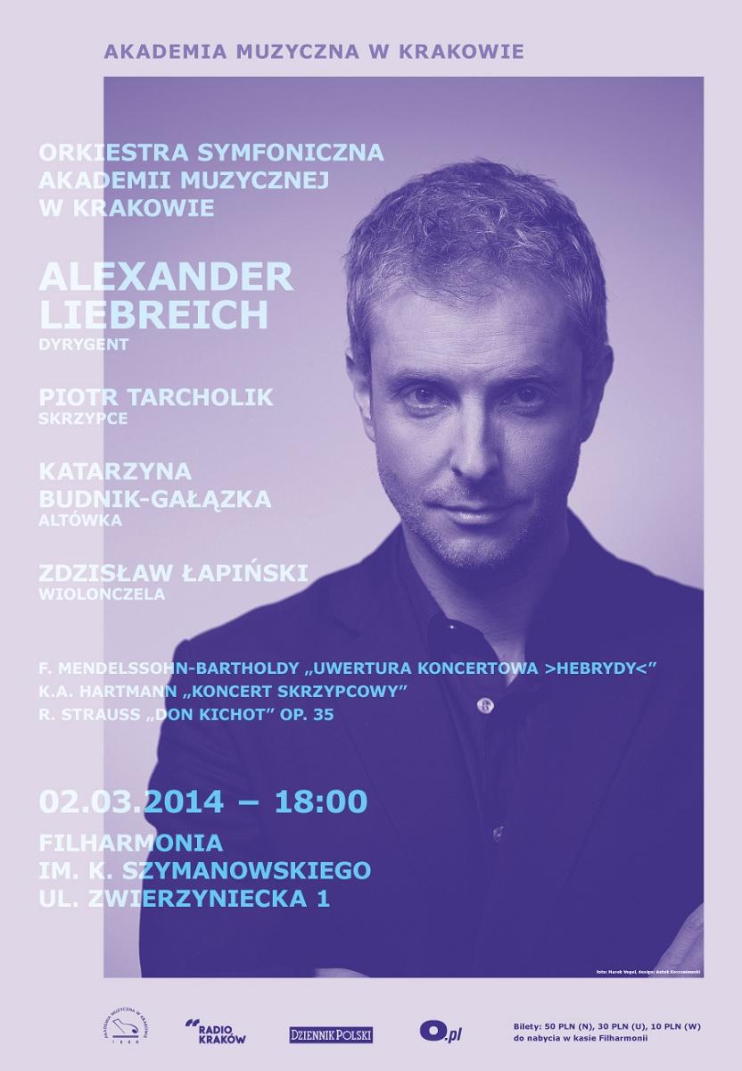 Alexander Liebreich, koncert w Akademii Muzycznej w Krakowie (źródło: mat. prasowe)