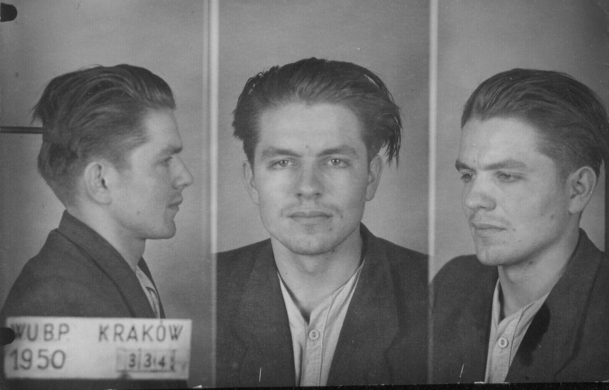 Józef Mika, żołnierz oddziału Narodowych Sił Zbrojnych, zdjęcie z aresztu, wł. IPN (źródło: materiały prasowe organizatora)