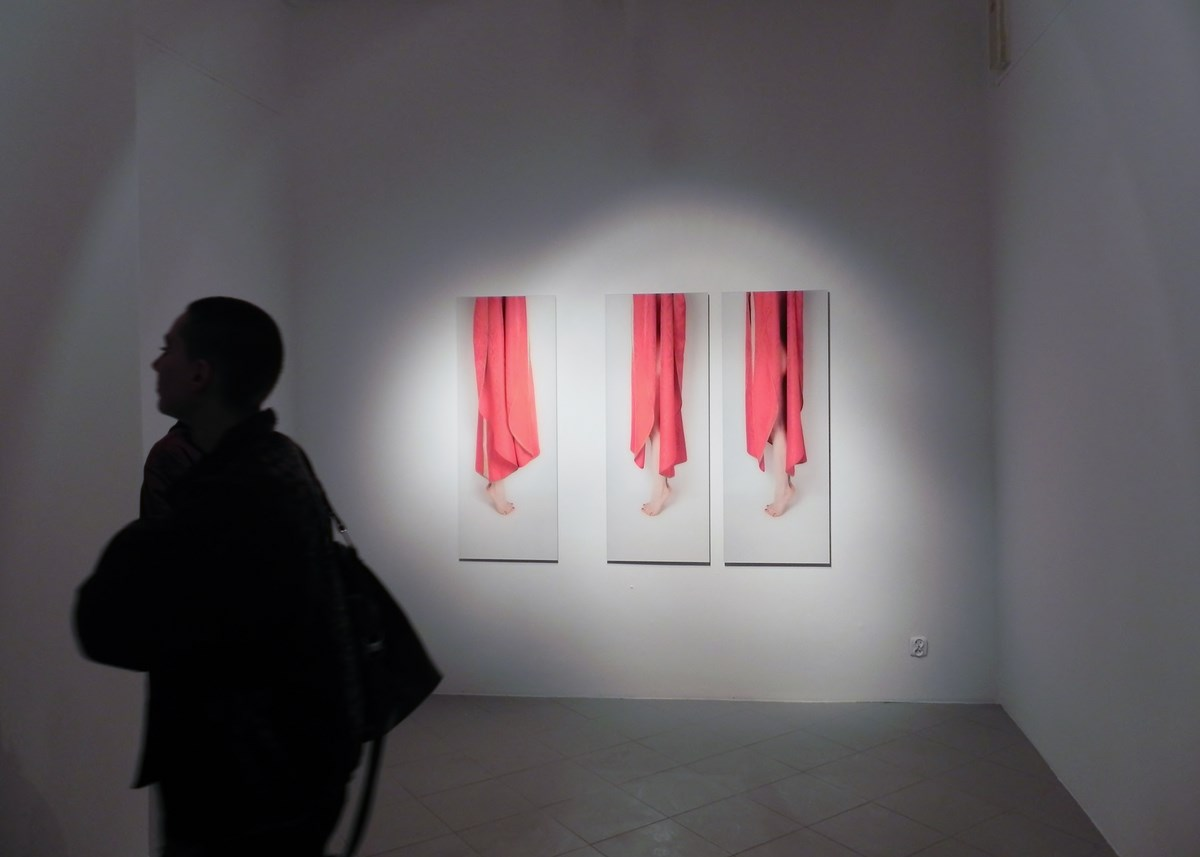 """Agata Zbylut, """"Perygeum"""", wernisaż, Gdańska Galeria Miejska, 28 marca 2014 r. (źródło: materiały prasowe organizatora)"""