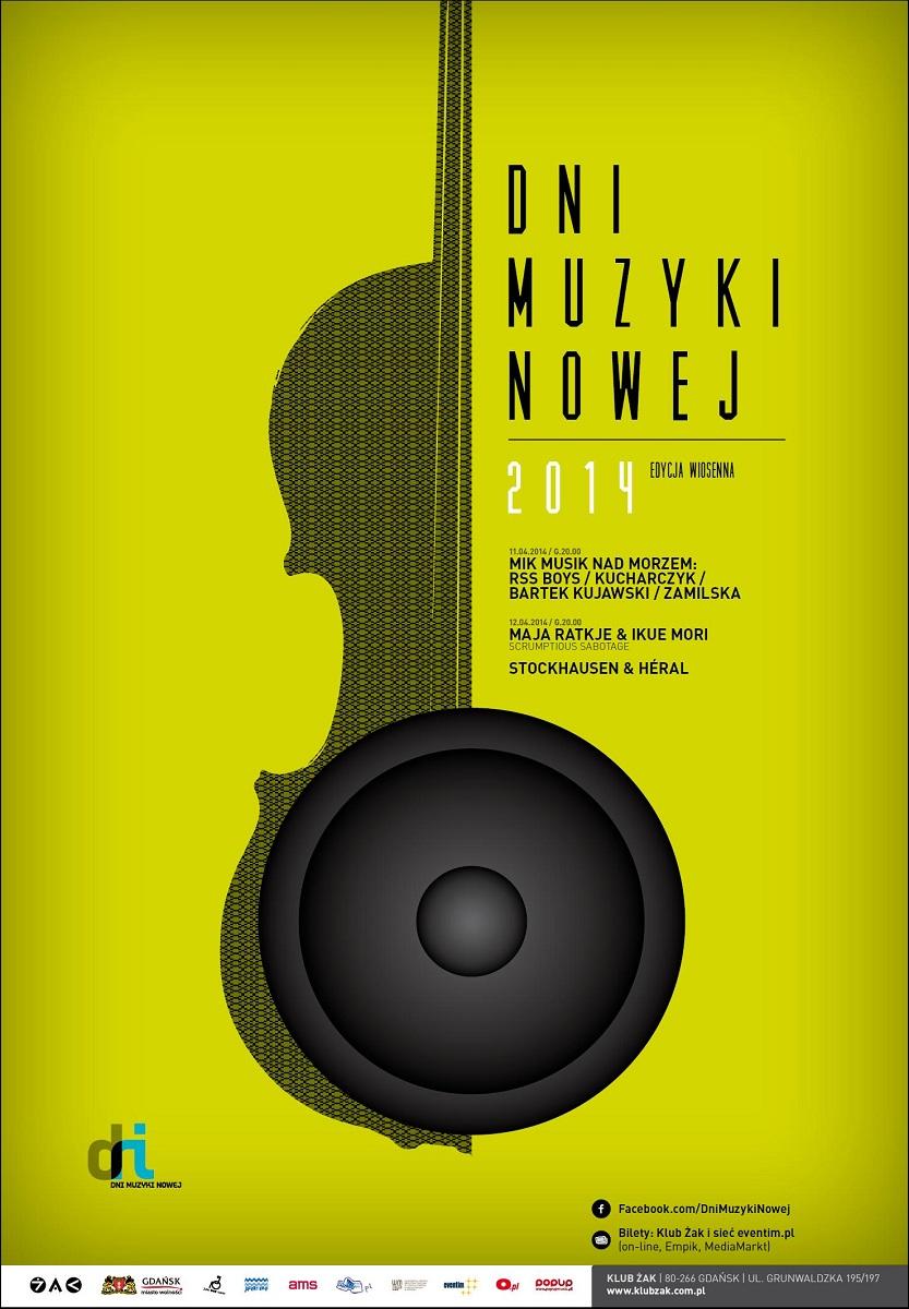 Dni Muzyki Nowej 2014 // edycja wiosenna, plakat (źródło: mat. prasowe)