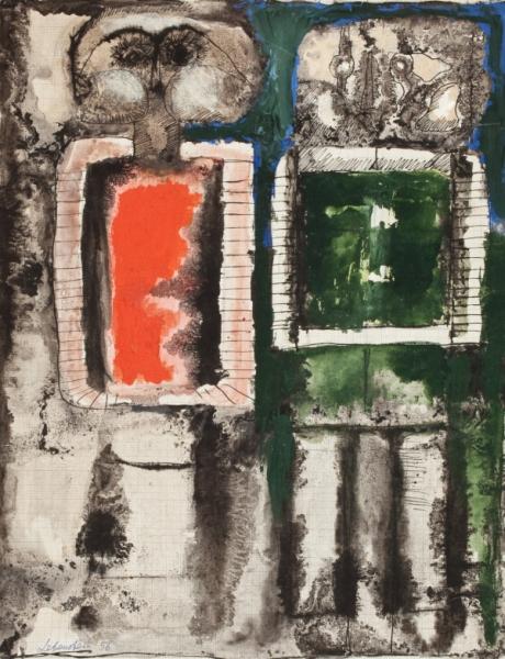 """Jan Lebenstein, """"Figury hieratyczne"""", 1956 (źródło: materiały prasowe organizatora)"""