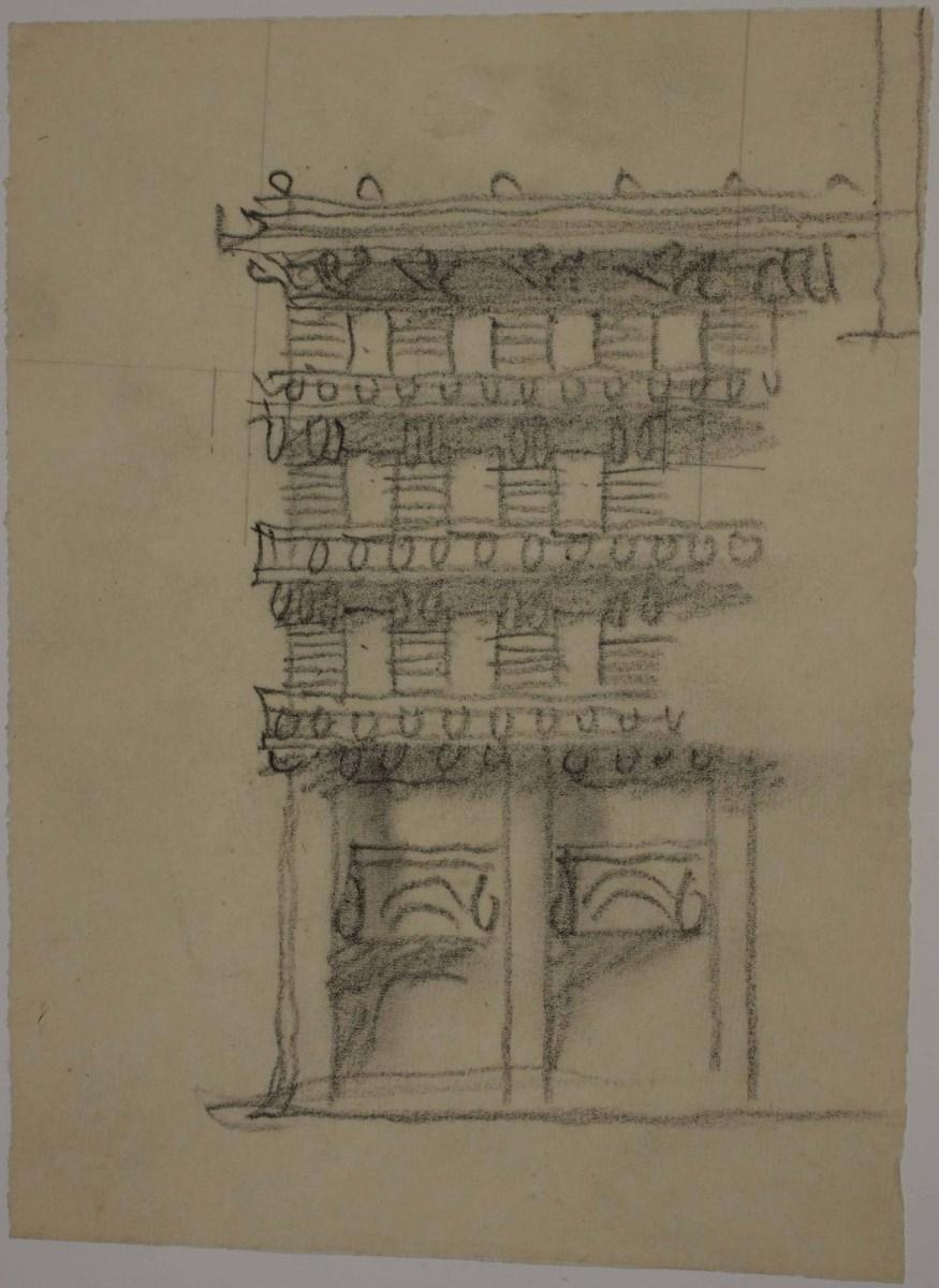 Jože Plečnik, Budynek Ubezpieczeń Wzajemnych w Lublanie, wariant fasady, 1928 r. (źródło: materiały prasowe organizatora)