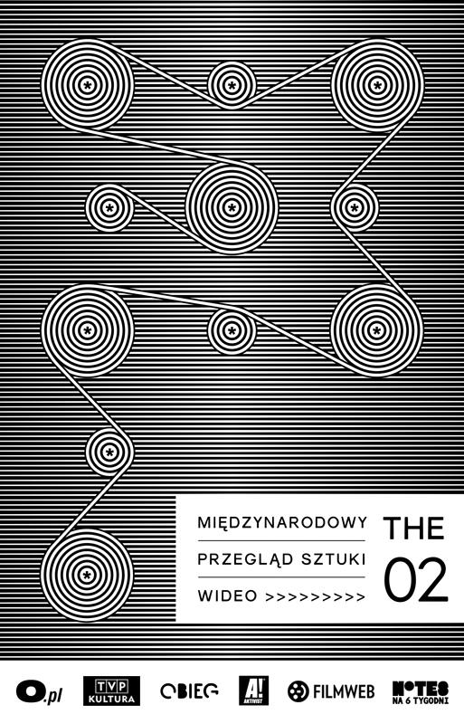 Międzynarodowy Przegląd Sztuki Wideo THE 02, plakat (źródło: materiały prasowe organizatora)