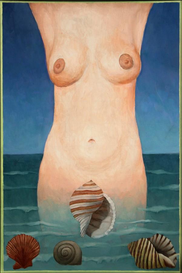 """Romuald Drzewiecki, """"Dziewczyna z muszlą"""", 2004 (źródło: materiały prasowe organizatora)"""