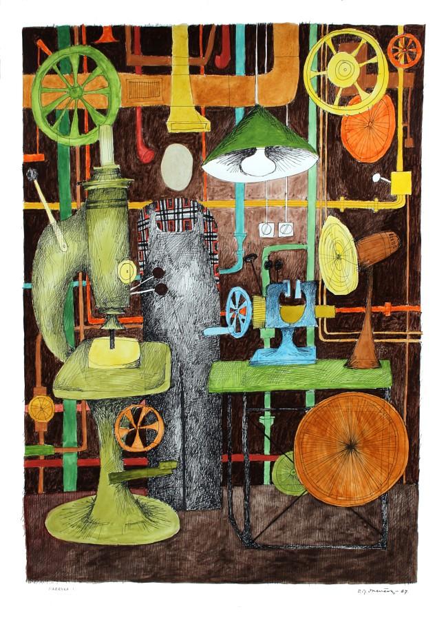 """Romuald Drzewiecki, """"Fabryka"""", 1967 (źródło: materiały prasowe organizatora)"""