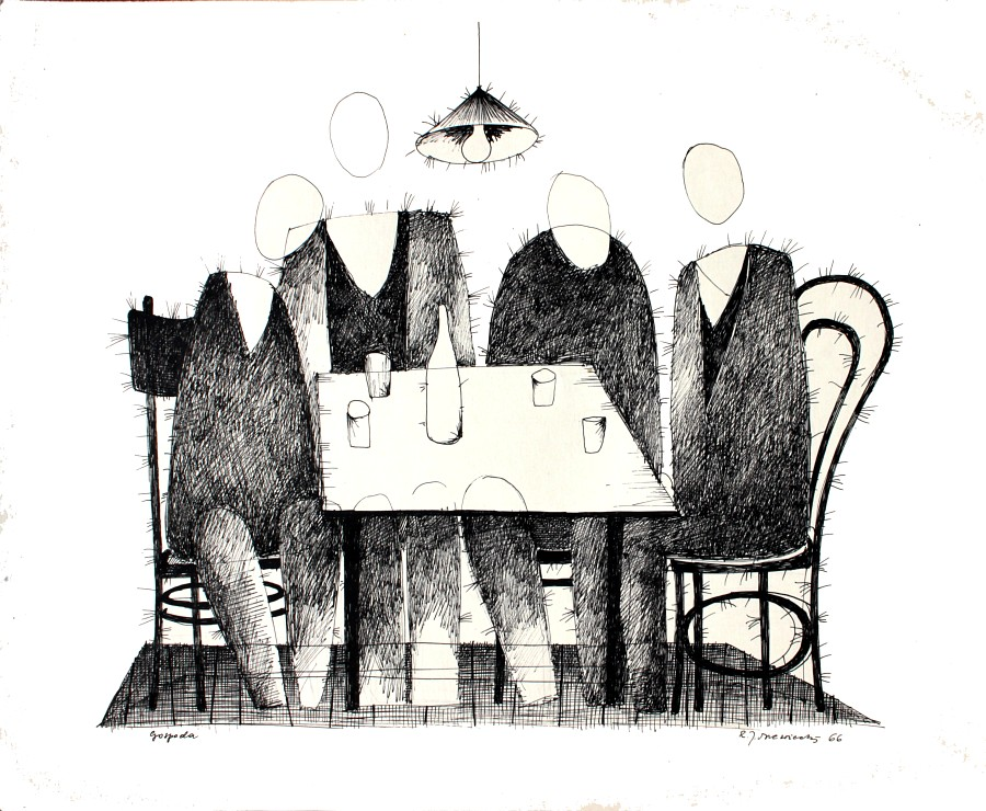 """Romuald Drzewiecki, """"Gospoda"""", 1966 (źródło: materiały prasowe organizatora)"""