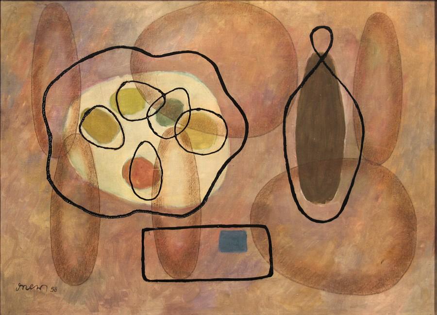 """Romuald Drzewiecki, """"Kompozycja II"""", 1958 (źródło: materiały prasowe organizatora)"""