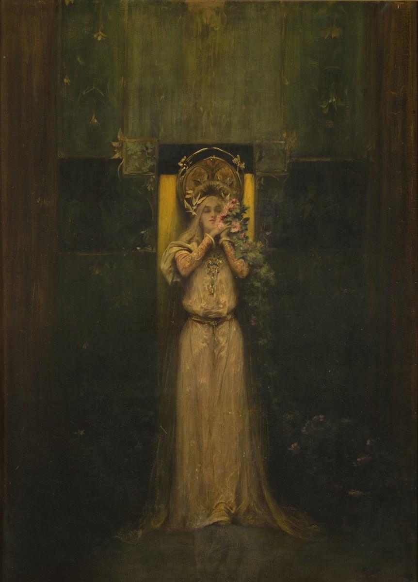 """Alfons Mucha, """"Flora"""", 1898, olej, płótno, PROARTE, Praga (źródło: materiały prasowe organizatora)"""