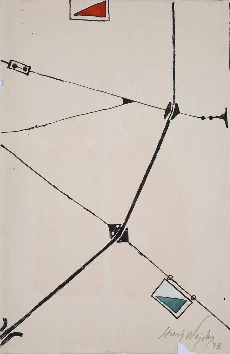 """Andrzej Wajda, """"Kompozycja"""", 1948 (źródło: materiały prasowe organizatora)"""