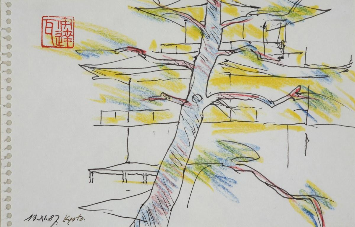 """Andrzej Wajda, """"Sosna przed świątynią w Kioto"""", 1987 (źródło: materiały prasowe organizatora)"""