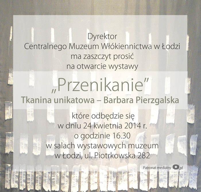 """""""Przenikanie"""" Tkanina unikatowa – Barbara Pierzgalska (źródło: materiały prasowe organizatora)"""