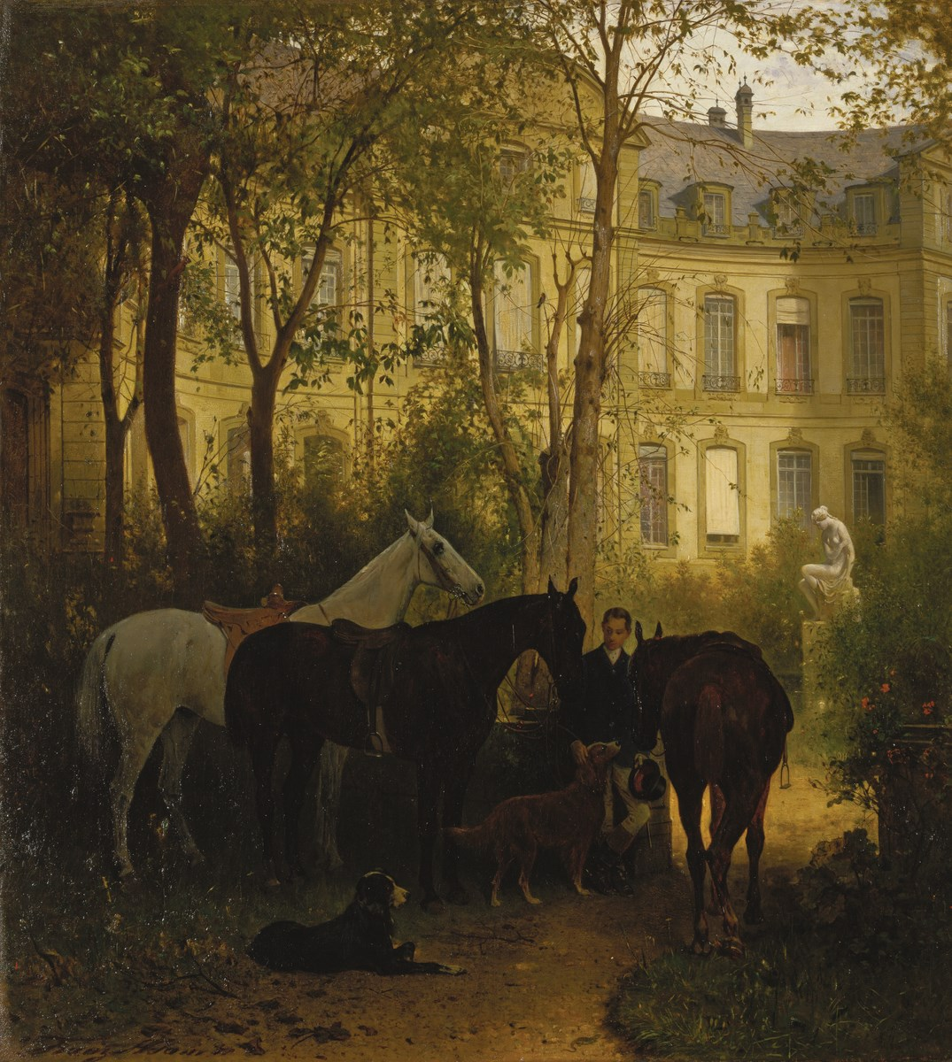 "Franz Adam (1815-1886), ""Przed przejażdżką konną"", 1871. München, Bayerische Staatsgemäldesammlungen ß Neue Pinakothek (źródło: materiały prasowe organizatora)"