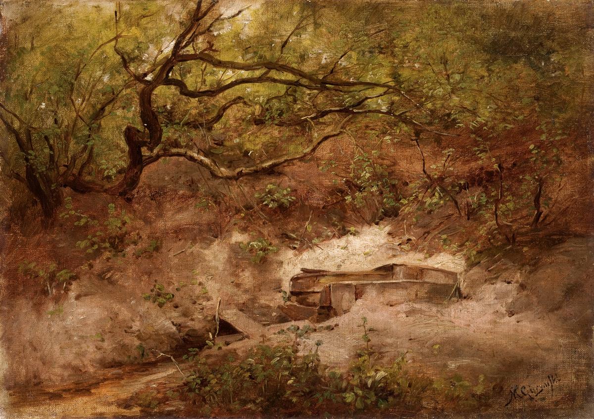 """Maksymilian Gierymski, """"Jabłoń nad potokiem"""", ok. 1868, wł. Muzeum Narodowe w Krakowie (źródło: materiały prasowe organizatora)"""