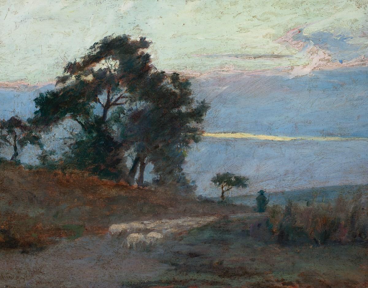 """Maksymilian Gierymski, """"Krajobraz o wschodzie słońca"""", 1869, wł. Muzeum Narodowe w Warszawie; foto Krzysztof Wilczyński (źródło: materiały prasowe organizatora)"""