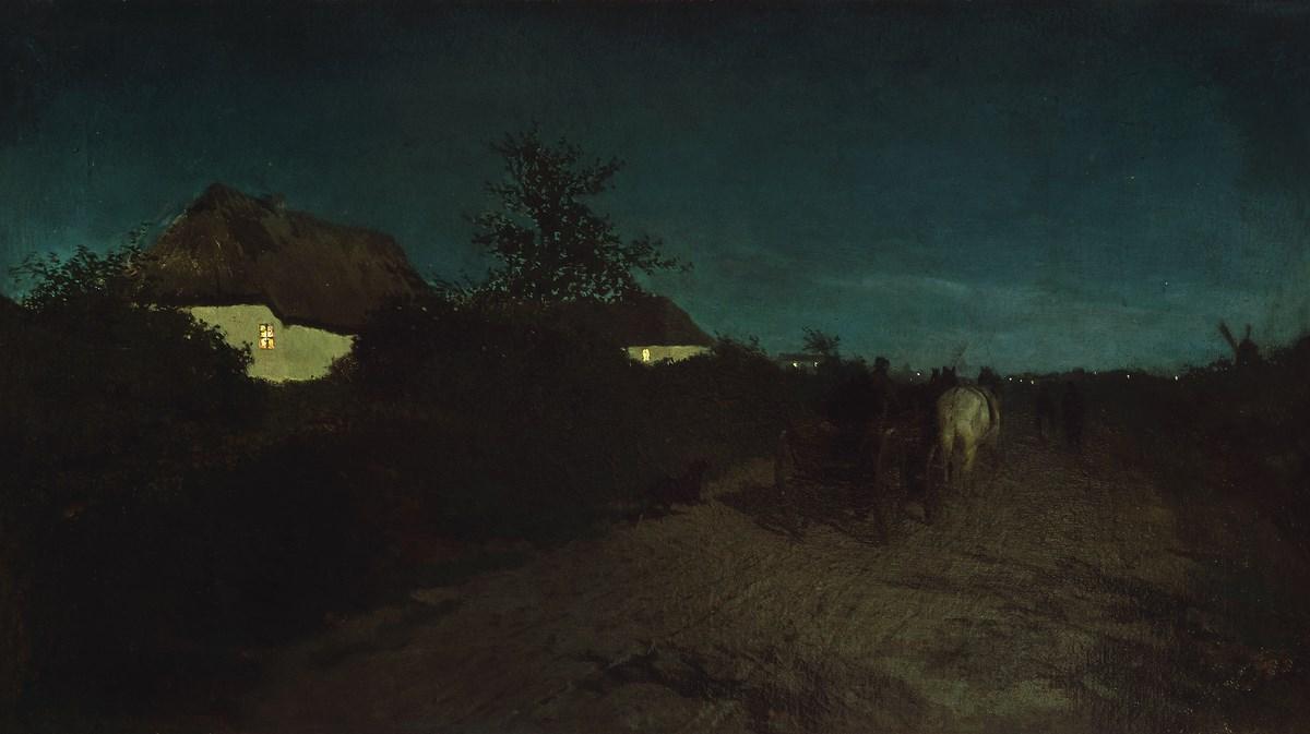 """Maksymilian Gierymski, """"Noc"""", 1872-1873, wł. Muzeum Narodowe w Warszawie; foto Elżbieta Gawryszewska (źródło: materiały prasowe organizatora)"""